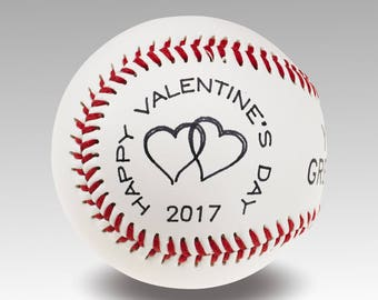 Custom Valentine's Day Baseball  - Personalize Yours Today !