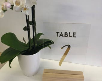 Acrylic & Wood Table Numbers - the perfect addition to your wedding