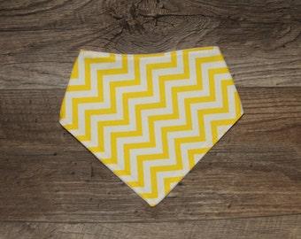 Bandana Bib   Bibdana   Yellow   Teething   Baby   Drool Bib   Kenton Creations   Perfect Gift   Handmade in Canada