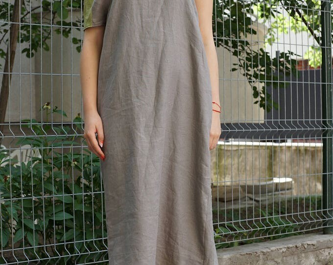 Linen Abaya Dress   Maxi Summer Dress   Long Linen Dress   Asymmetric Loose Fit Dress   Caftan Dress   Kaftan Dress   Smock Linen Dress