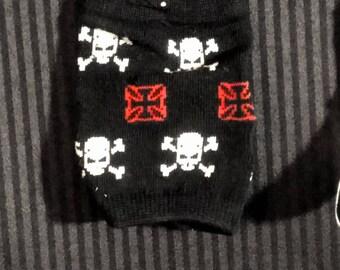 Skull Knit Wristwarmers - Pair
