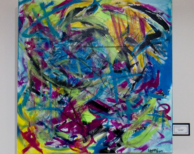 "Large Abstract Painting ""Splash Me"""