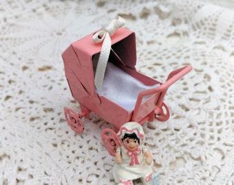 Pink stroller, toy
