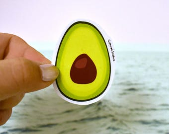 Avocado!!! Sticker, Waterproof