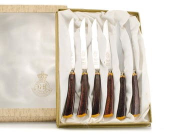 Glo Hill Bakelite Knives, Stainless Steel Knives, Warranted Cutlery