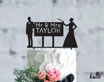 Teacher Personalized Wedding Cake Topper, Wedding Cake Topper- Personalized teachers cake topper- Custom wedding Cake Topper- cake topper