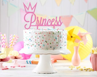 Princess Cake Topper, 1st Birthday Cake Topper, custom Cake Topper, Birthday Cake Topper, Little Princess Cake Topper, Crown Cake Topper