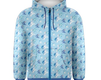Popplio Hoodie - Zip-Up Hoodie Pokemon Hoodie Brionne Hoodie Pokemon Evolutions Hoodie Pokemon Sun and Moon Primarina Hoodie Plus Size