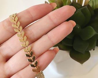 CHEVRON CHOKER - gold choker necklace - chevron necklace - gold necklace - gold choker fishbone choker dainty necklace gold layering choker