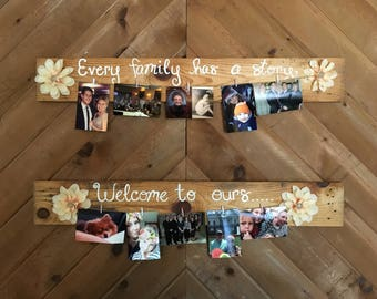 Family story photo sign
