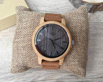 Luna - Gents Wooden watches from TheWoodCraft. Mens Wood watches, groomsmen gift, wood watch, wooden gift, gifts for him.  Uk based.