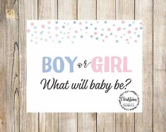 Gender Reveal Sign | Gender Reveal Printable Signs | Boy or Girl Gender Reveal | Gender Reveal Party | Gender Reveal Signs | Gender Sign