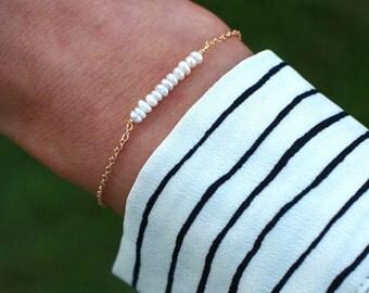Dainty Freshwater Pearl Bridesmaid Bracelet | Freshwater Pearl Bracelet | Pearl Bridesmaid Bracelet | Bridesmaid Bracelet Gift | Pearl Gift