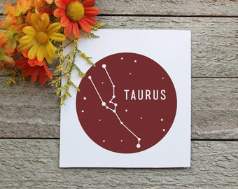 Zodiac Sign Vinyl Decal | Taurus