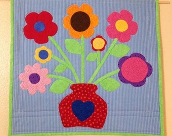Peaches Quilt Creations Flowers for Mama Applique Quilt Wall Hanging Pattern