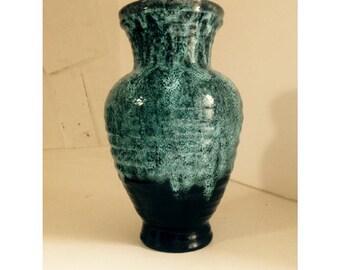 Grand vase en ceramique ACCOLAY circa 1950's, Big great french ceramic ACCOLAY vase mid century