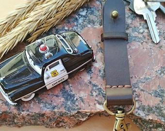 Leather keychain belt clip keychain Key Fob Ring key chain leather key fob leather key holder clip on key chain unisex key fob Key Fob