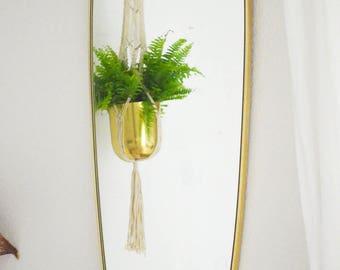 Great mid century wall mirror gold 1950 brass mirror vintage
