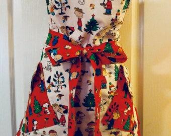 Charlie Brown Christmas apron