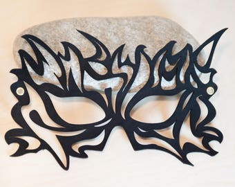 Leather Mask - Flames