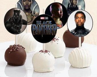 Black Panther Cake Pop Toppers - Black Panther Cake Pops - Black Panther Party - Black Panther Birthday - Marvel - Digital Print - You Print