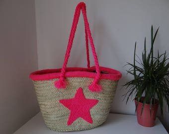 Personalized STARS basket - handmade