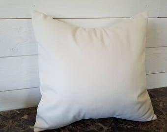 Cream Decorative Pillow Cover, Bedroom Decor, Sofa Pillows, Accent Pillow, Toss Pillow Sofa Cushion 16x16