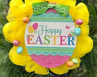 Happy Easter Yellow Wreath