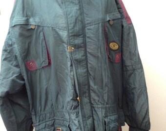Vintage 90s RUCANOR Coat | Retro Wavey Festival Ski | XL