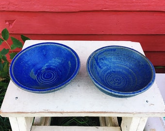 Blue Cereal Bowl