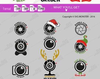 Elf Cam SVG files Christmas cam SVG Santa cam SVG elf watch svg camera svg shutter cam svg Christmas svg cut files 269