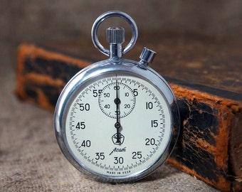 Vintage Soviet STOPWATCH CHRONOMETER -Mechanical pocket watch ussr-Stopwatch 2 Button Soviet USSR -Christmas gift