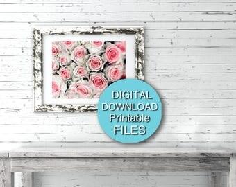 Flower Photography Digital DOWNLOAD Pink Flower Photo Rose Print 5x7 8x10 11x14 16x20 24x36 30x40 A4 A3