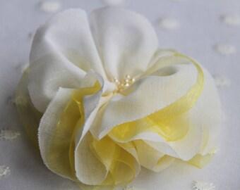 Bridal Hair Flower Clip/ Wedding Hair Flower Clip/ Wedding Flower with Beads/  Bridal Hair Piece/Wedding Boho Hair Flower/Bridal Hair Flower