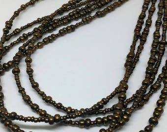 Bronze Multi Strand Necklace