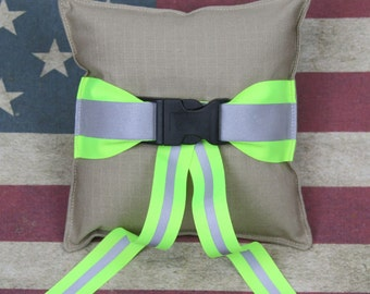 Firefighter TAN Wedding Ring Bearer Pillow