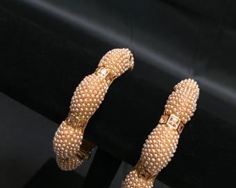 Indian Kangan - Indian Jewelry - Temple Jewellery - Temple Bangles Kangan - Bollywood Jewelry - Pakistani Jewelry - Polki Kundan Jewelry -