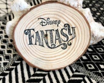 Disney Fantasy Cruise Magnet, Fish Extender Gift, Disney Fantasy, Fish Extender, Natural Wood, Handmade Vacation Souvenir
