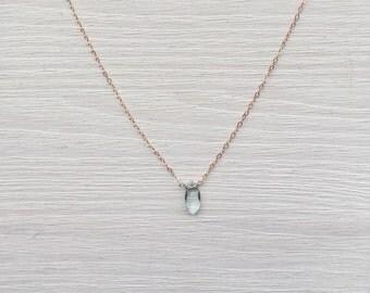 Aqua Marine Pendant Necklace