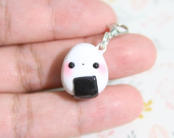 Kawaii Onigiri, Rice Ball - Polymer Clay Charm