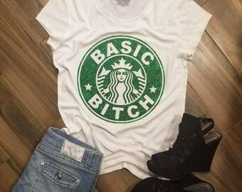 Starbucks Basic Bitch Shirt // Starbucks Parody Shirt // Pumpkin Spice Shirt // Basic Bitch Tee