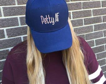 Petty AF Custom Hat-Navy w/Rose Gold-NEW