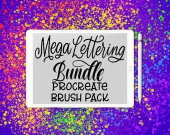 Mega Brush Bundle - 35 Procreate Lettering Brushes