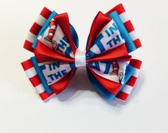 Cat And The Hat Hair Bow