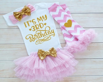3rd Birthday Girl Outfit, Third Birthday Outfit Girl, 3rd Birthday Outfit, Birthday Gift, Third Birthday Girl Shirt, 3rd Birthday Bodysuit
