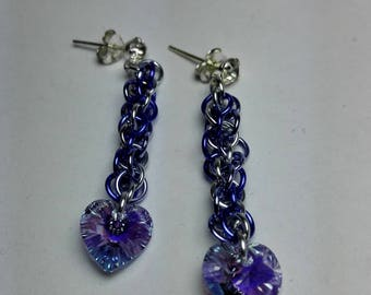 Earrings Swarovski Hearts