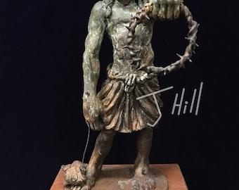 Bronze Sculpture of Jesus by J.Hill