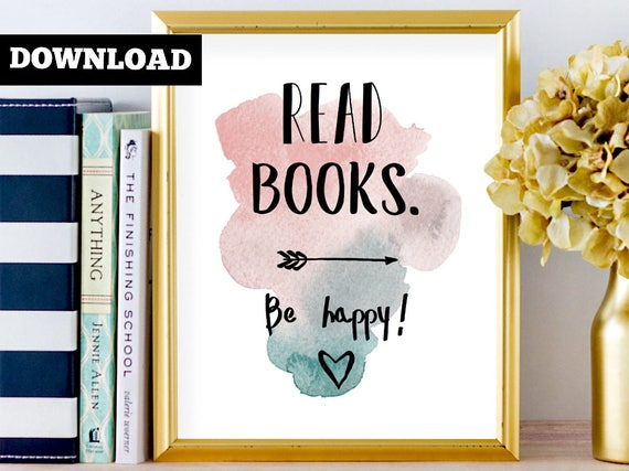 Book lover gift, Bookish home decor, Literary print, Bookish print, Literary gift print, Library print art, Literary poster gift, Bookworm