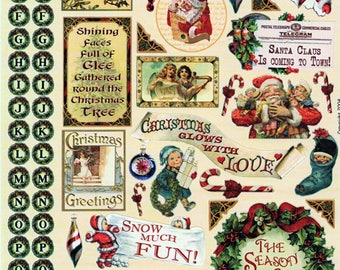 Christmas Memories Heartwarming Vintage Stickers Crafty Secrets Scrapbook Embellishments Card Making