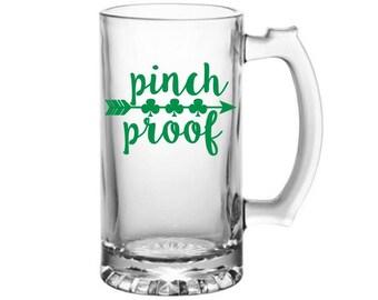 Pinch Proof Decal - St Patrick's Day Decal - Shamrock Beer Mug Decal - Shamrock Decal  - St Patrick's Day Sticker - Irish Decal - Shamrock